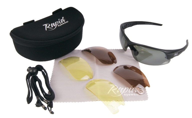 Edge Black golfers sunglasses