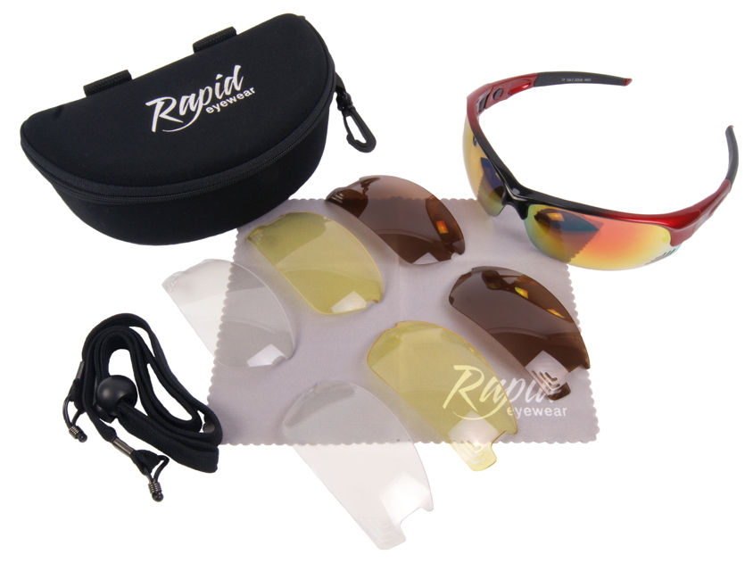 Edge Red Cycle Sunglasses