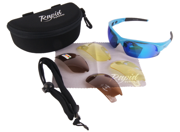 Edge Blue bikers sunglasses