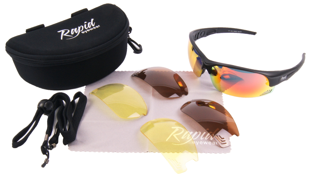 Edge Black sunglasses for cricket