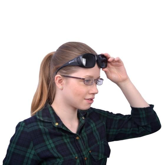 Schwarze UV Sonnenüberbrille