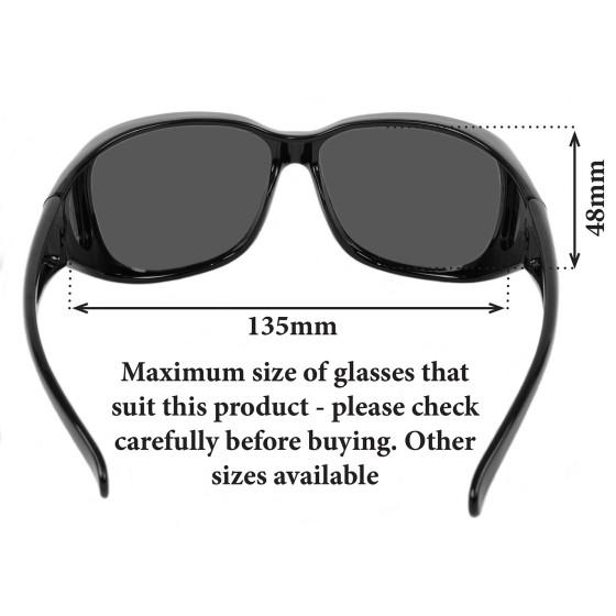 Schwarz Medium überbrille