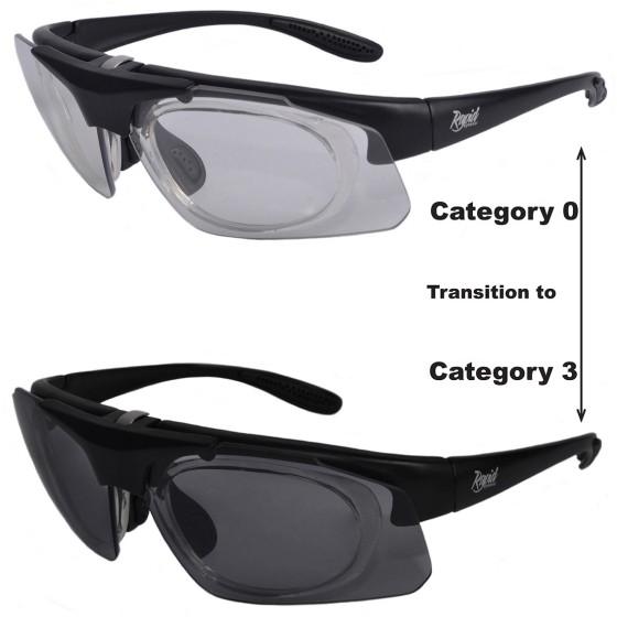 Selbsttönende Sportbrille mit Sehstärke