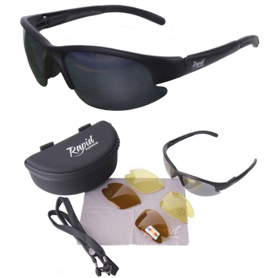 Black Polarised Driving Sunglasses