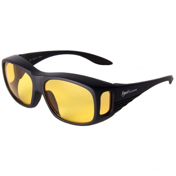 Sur-lunettes pour conduite de nuit
