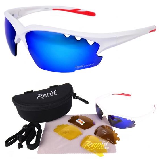 Breeze blanc lunettes de soleil sport