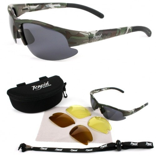 Camouflage Army & Shooting Sunglasses