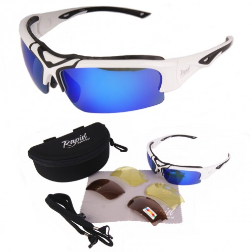 Toledo White Sports Sunglasses