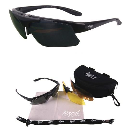 Schwarz Rx Cricket Sonnenbrille