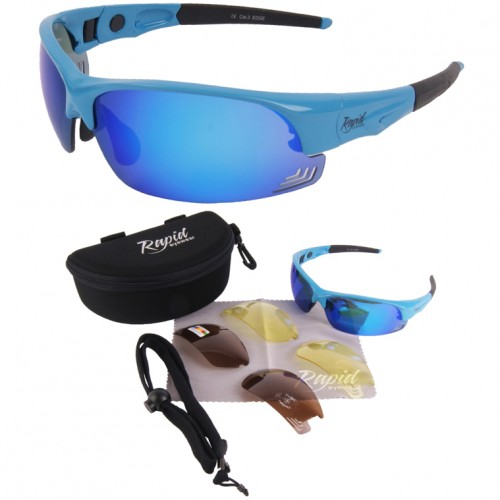 Edge Blue Bikers Sunglasses