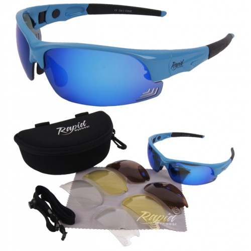Edge Blue Cycling Eyewear