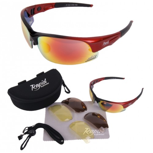 Edge Red Womens Driving Sunglasses