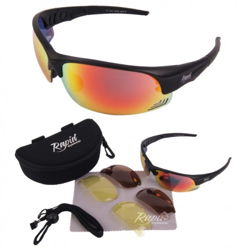 Edge Black Sport Sunglasses For Men