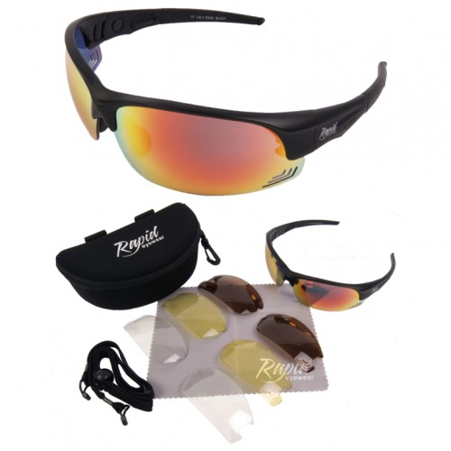 Edge Black Sunglasses For Running