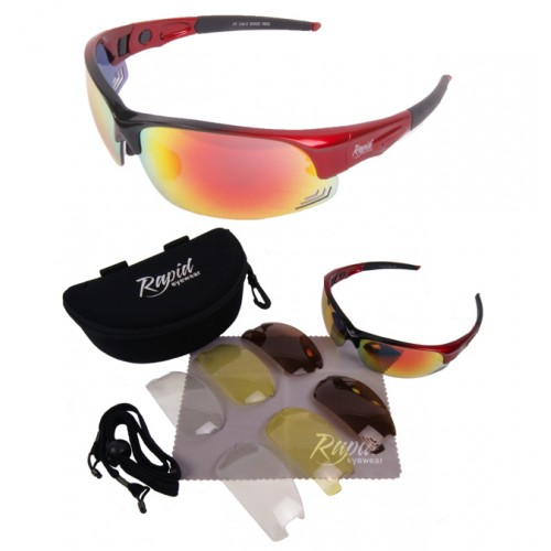 Edge Red Running Sunglasses