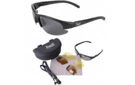Black Polarized Sports Sunglasses