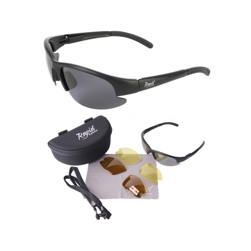 Black Polarised Driving Sunglasses