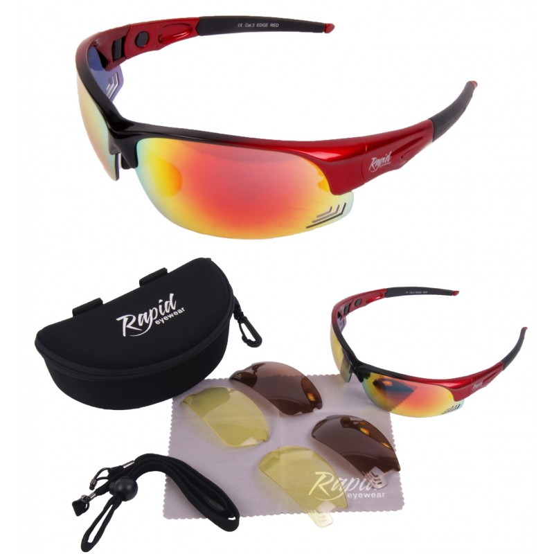 Edge Red Cricket Sunglasses