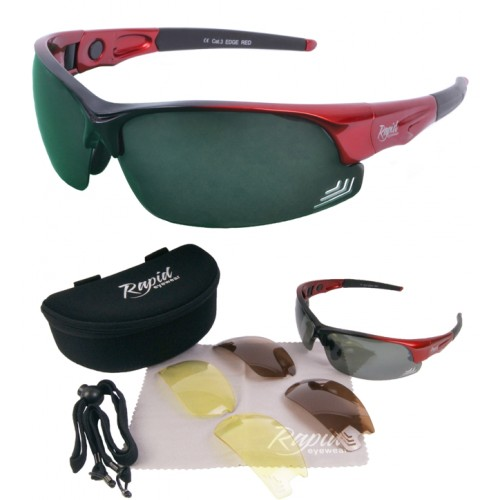 Edge Red Golf Sunglasses for Women & Men
