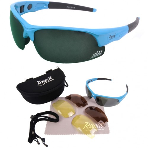 Edge Blue Sunglasses For Golf