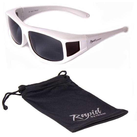 Sur-lunettes solaires polarisees blanches
