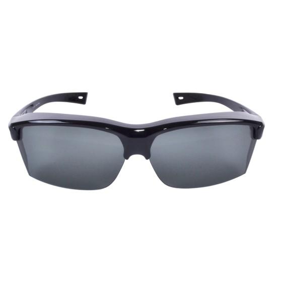 Vogue (noir): sur-lunettes larges 140mm