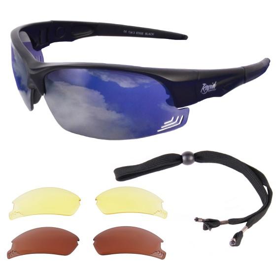 lunettes de soleil pilot Edge Rouge