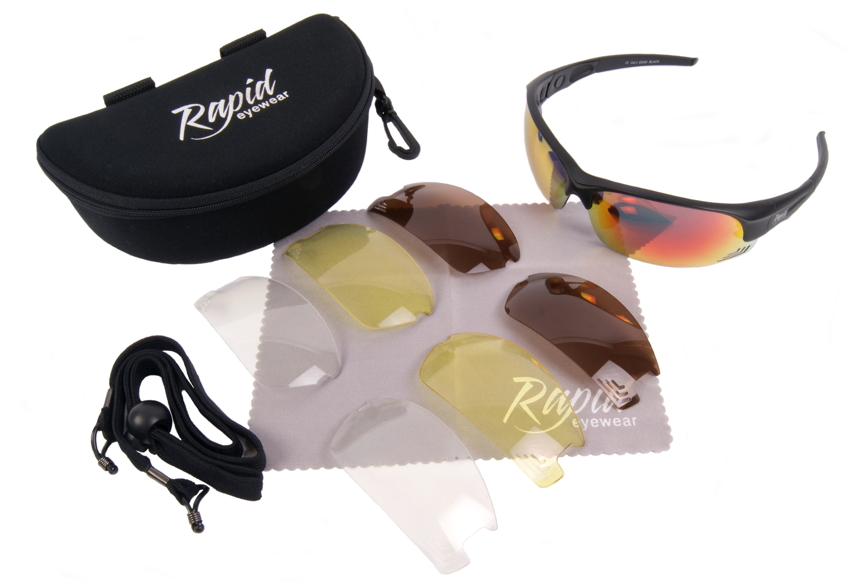 Edge Black Cycling Sunglasses for men