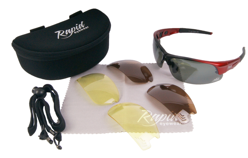 Edge Red golfers sunglasses mens
